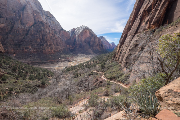 View Down From Angels Landing Trail